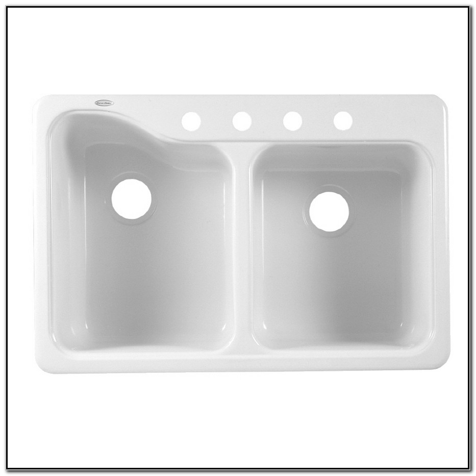 American Standard Double Basin Porcelain Kitchen Sink