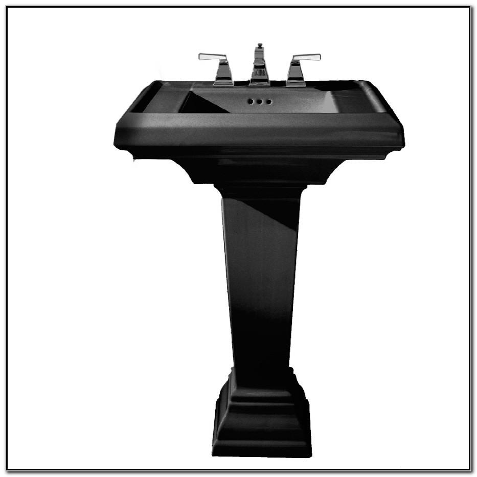 American Standard Town Square Pedestal Sink Black