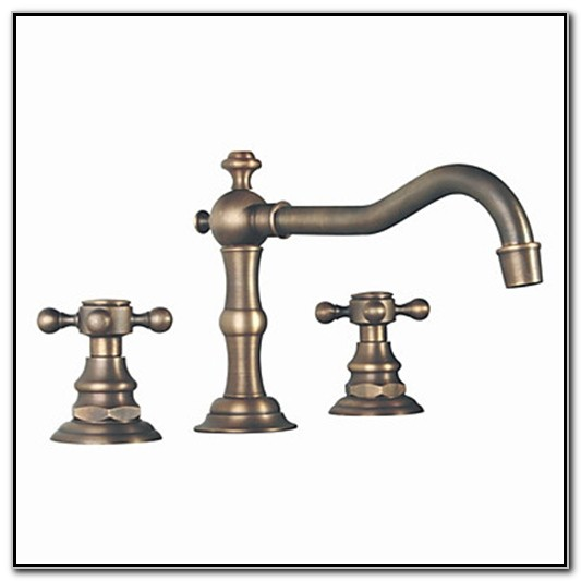 Antique Brass Finish Bathroom Sink Faucet