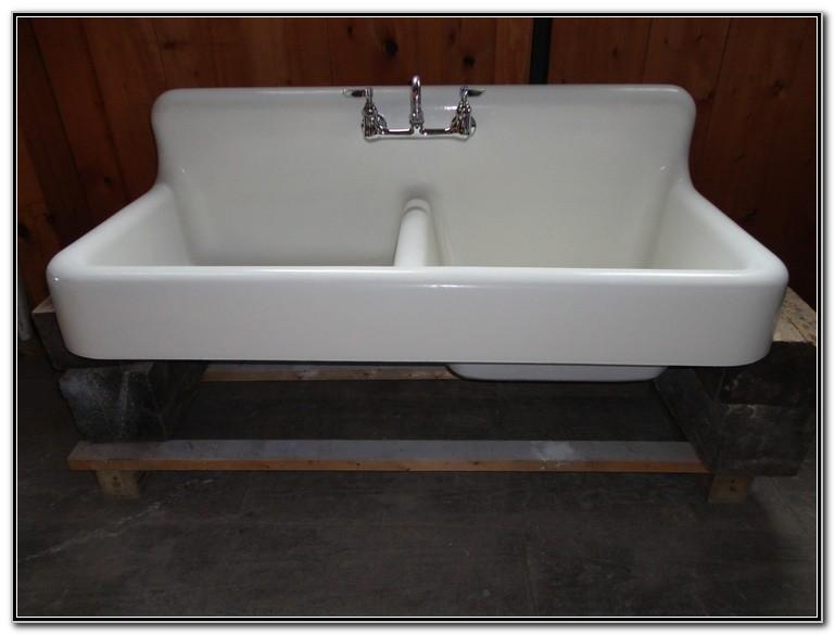 Antique Cast Iron Double Sink