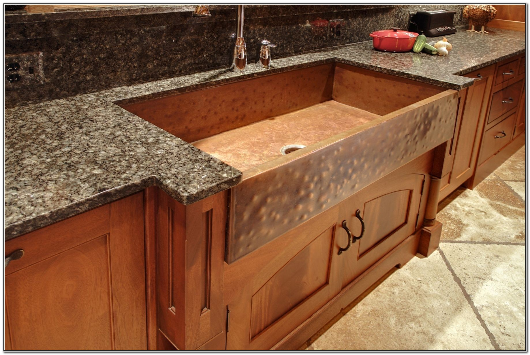 Antique Hammered Copper Farmhouse Sink