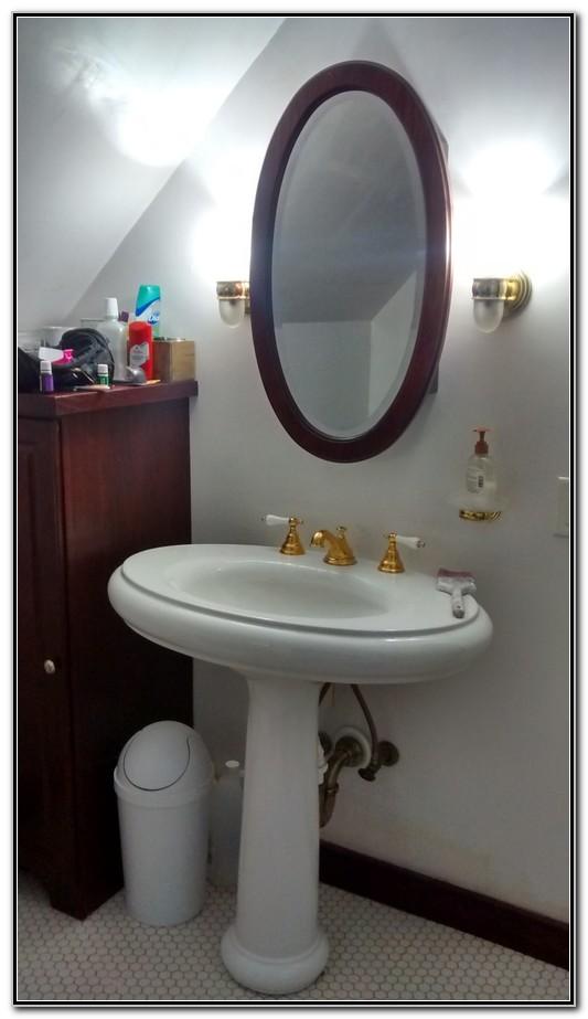 Backsplash For Bathroom Pedestal Sink