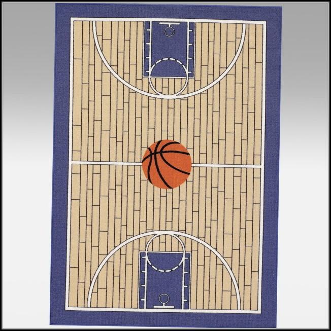 Basketball Half Court Rug