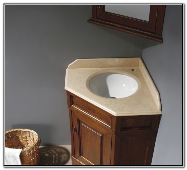 Bathroom Under Sink Corner Cabinet