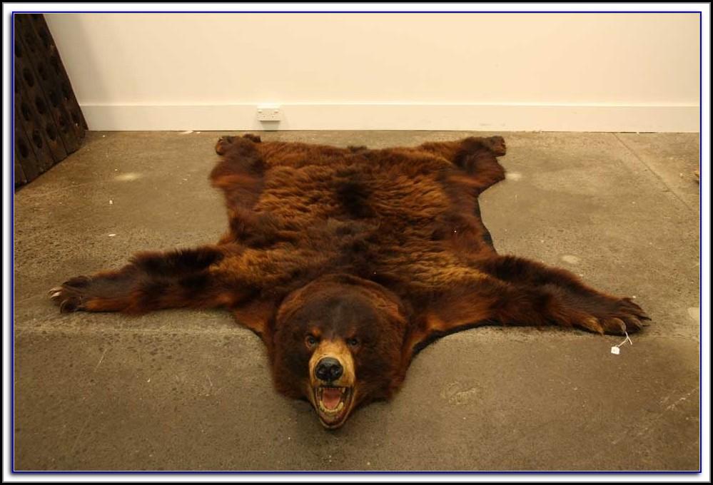 Bear Skin Rugs With Head