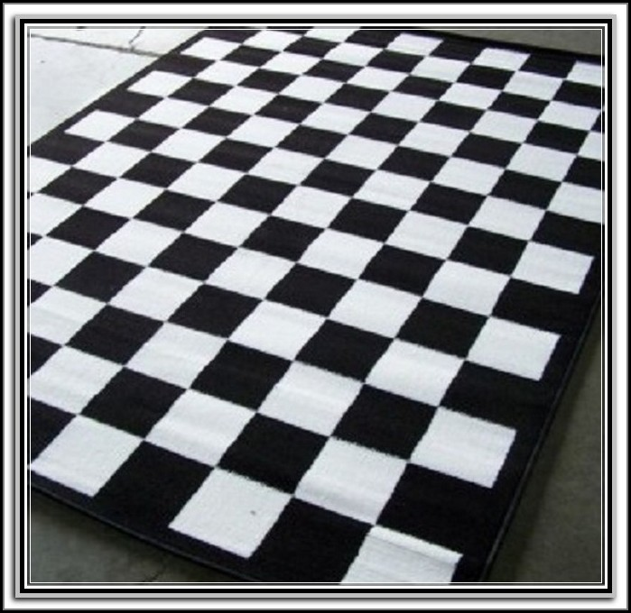 Black And White Checkered Rug Uk