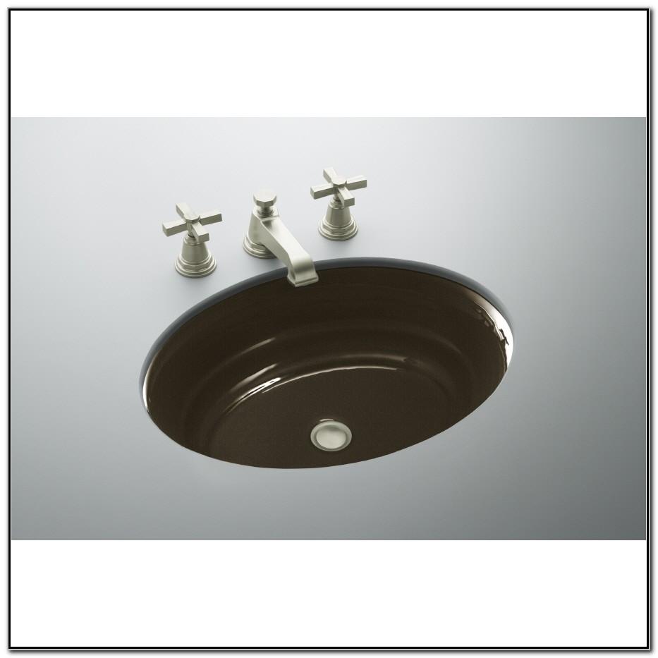 Black Oval Undermount Bathroom Sink