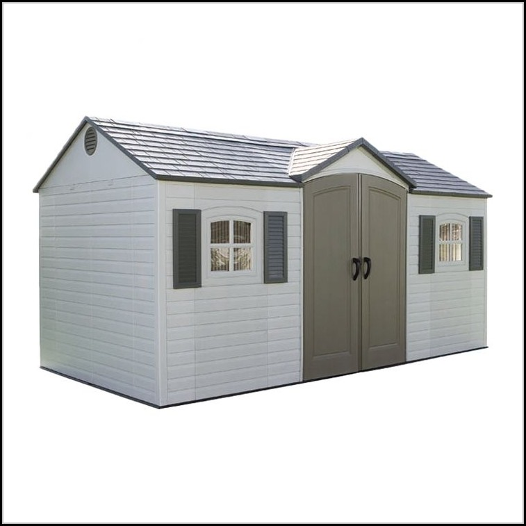 Blooma 6 X 4 Brown Plastic Shed