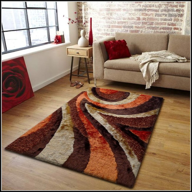 Brown And Burnt Orange Rugs