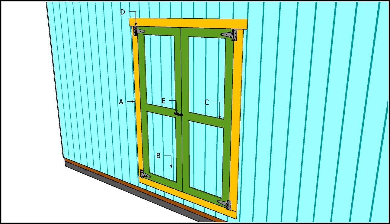 Build Double Doors For Shed
