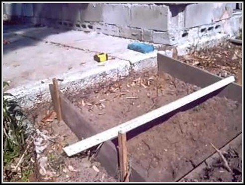 Building A Concrete Ramp For Shed