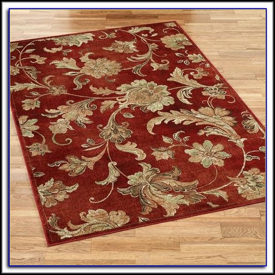 Burgundy And Beige Area Rugs
