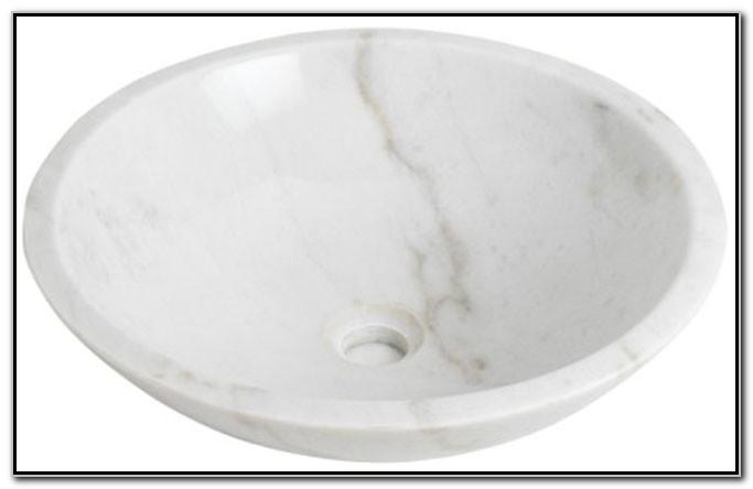 Carrara Marble Round Vessel Sink