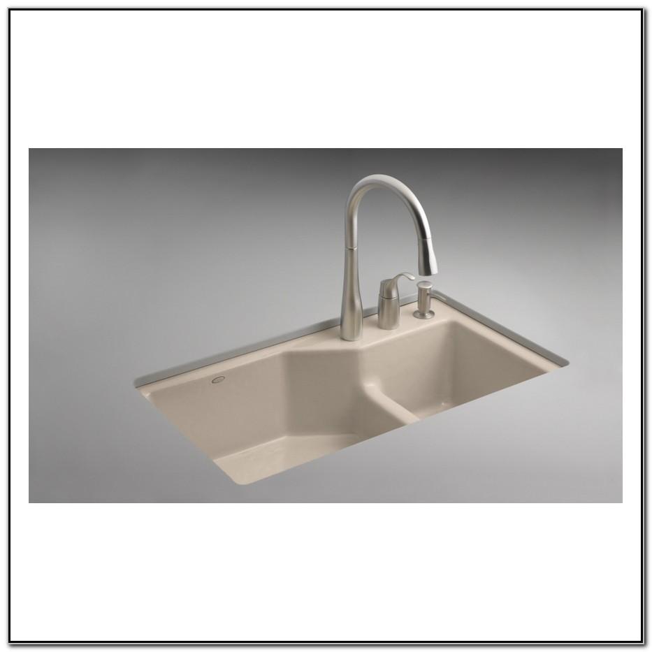Cast Iron Double Bowl Undermount Kitchen Sink
