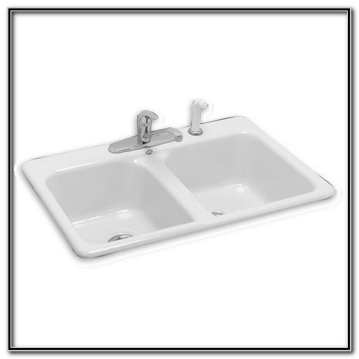 Cast Iron Double Kitchen Sink