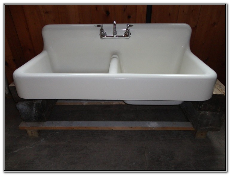 Cast Iron Double Sink