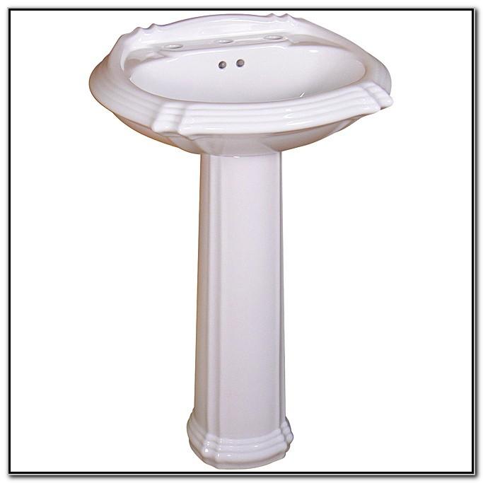 Ceramic 22 Inch White Pedestal Sink