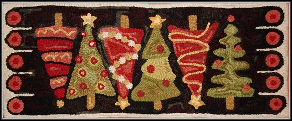 Christmas Tree Rug Runner