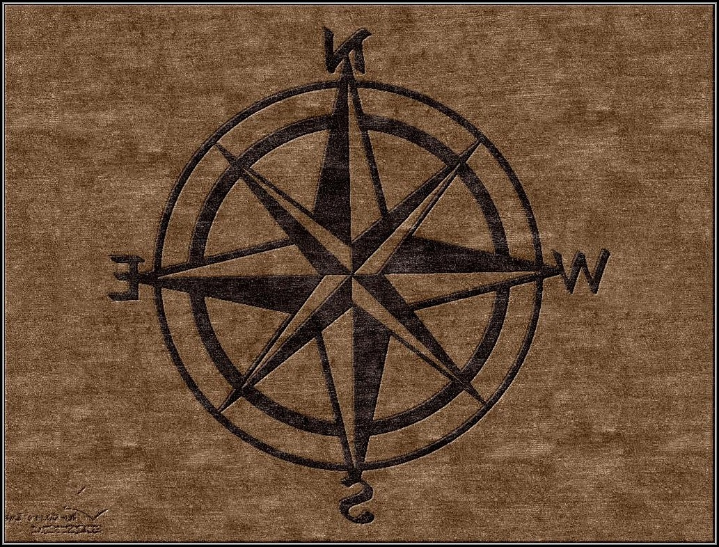 Compass Rose Area Rug