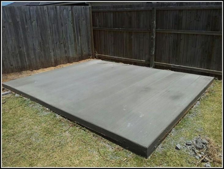 Concrete Slab For Shed Diy