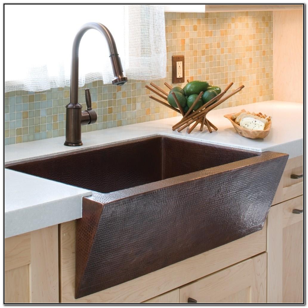 Copper Apron Front Kitchen Sink