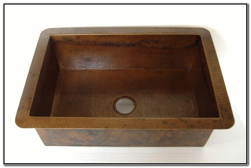 Copper Drop In Sink Kitchen