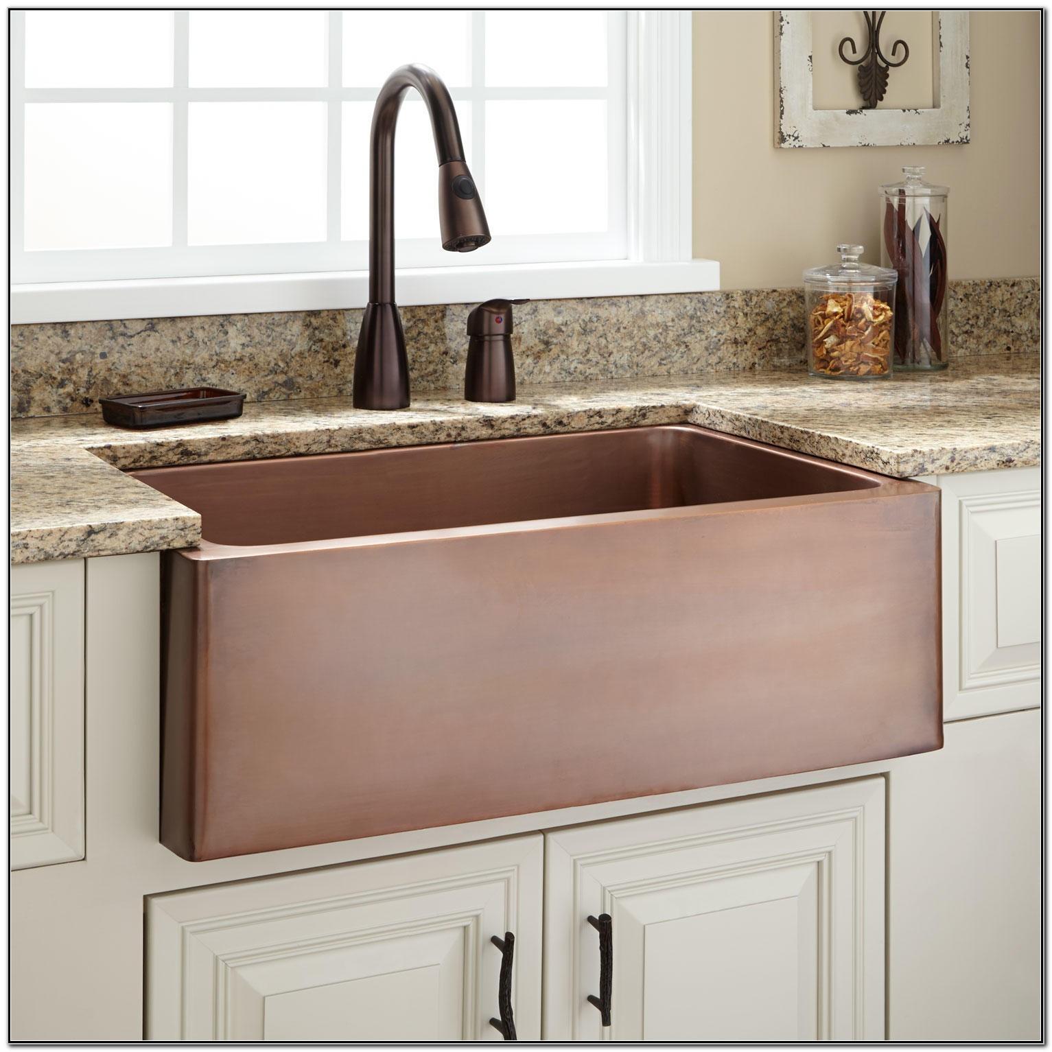Copper Farmhouse Sink 30