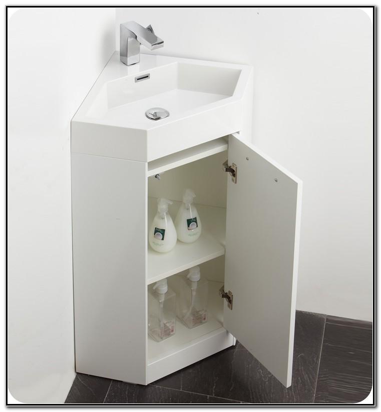 Corner Bath Sink Cabinet