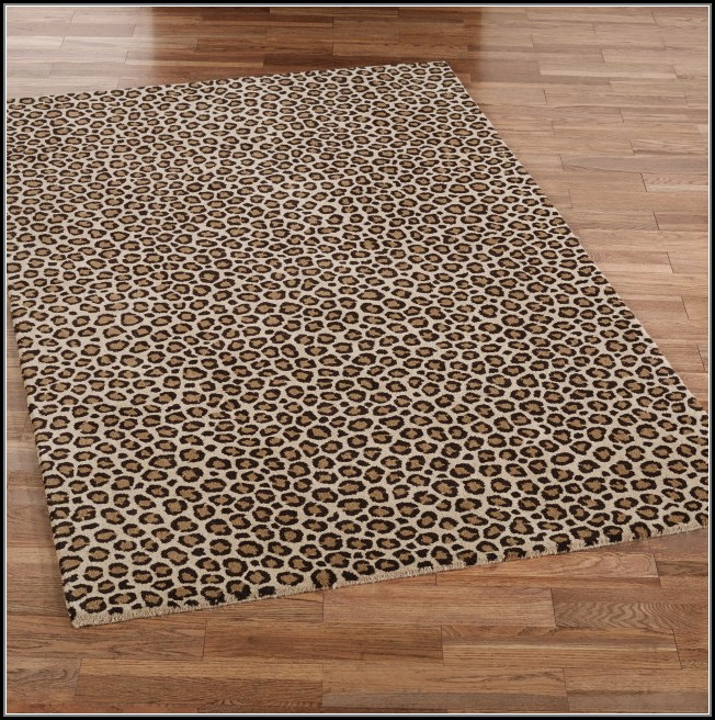 Cow Print Area Rug