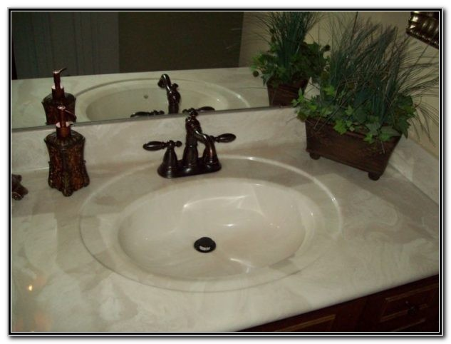 Cultured Marble Vanity Tops With Integrated Sink
