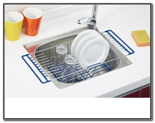 Dish Drainer In The Sink
