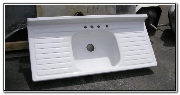 Double Drainboard Porcelain Kitchen Sink