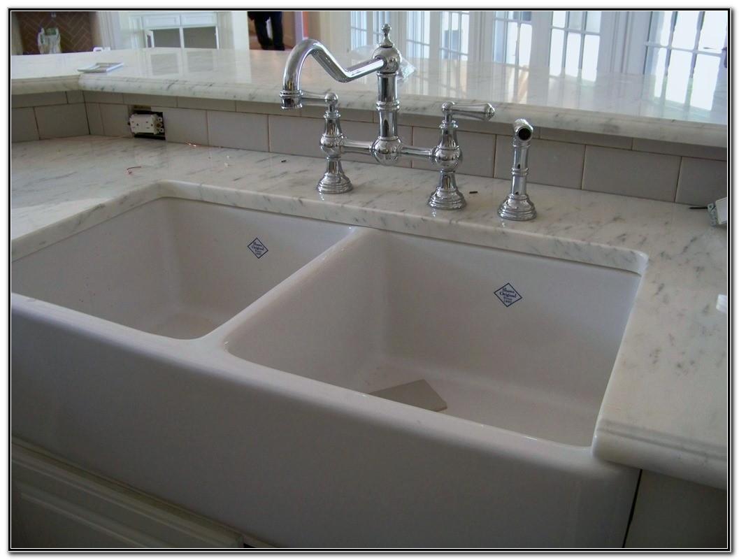 Double Porcelain Kitchen Sink