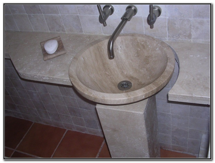 Drop In Bathroom Sink With Granite Countertop