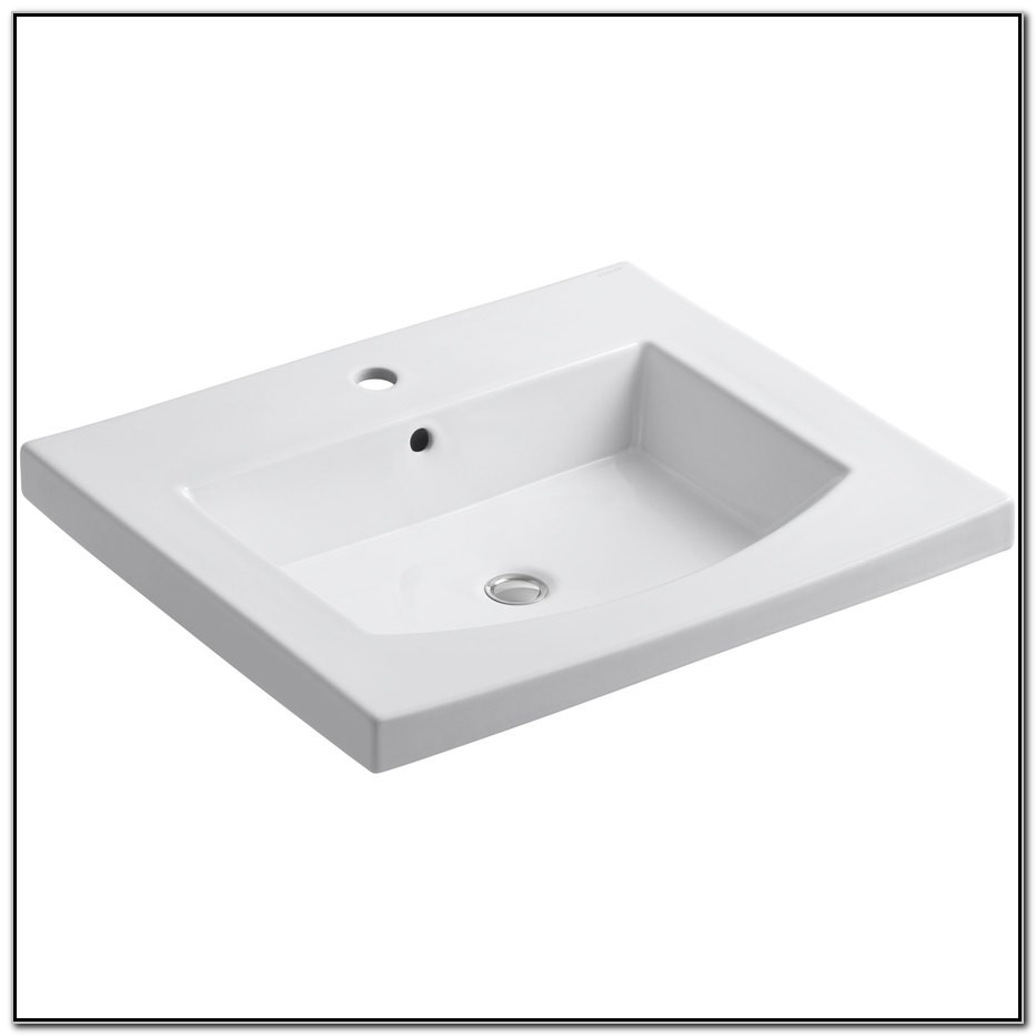 Drop In Bathroom Sink Without Faucet Holes
