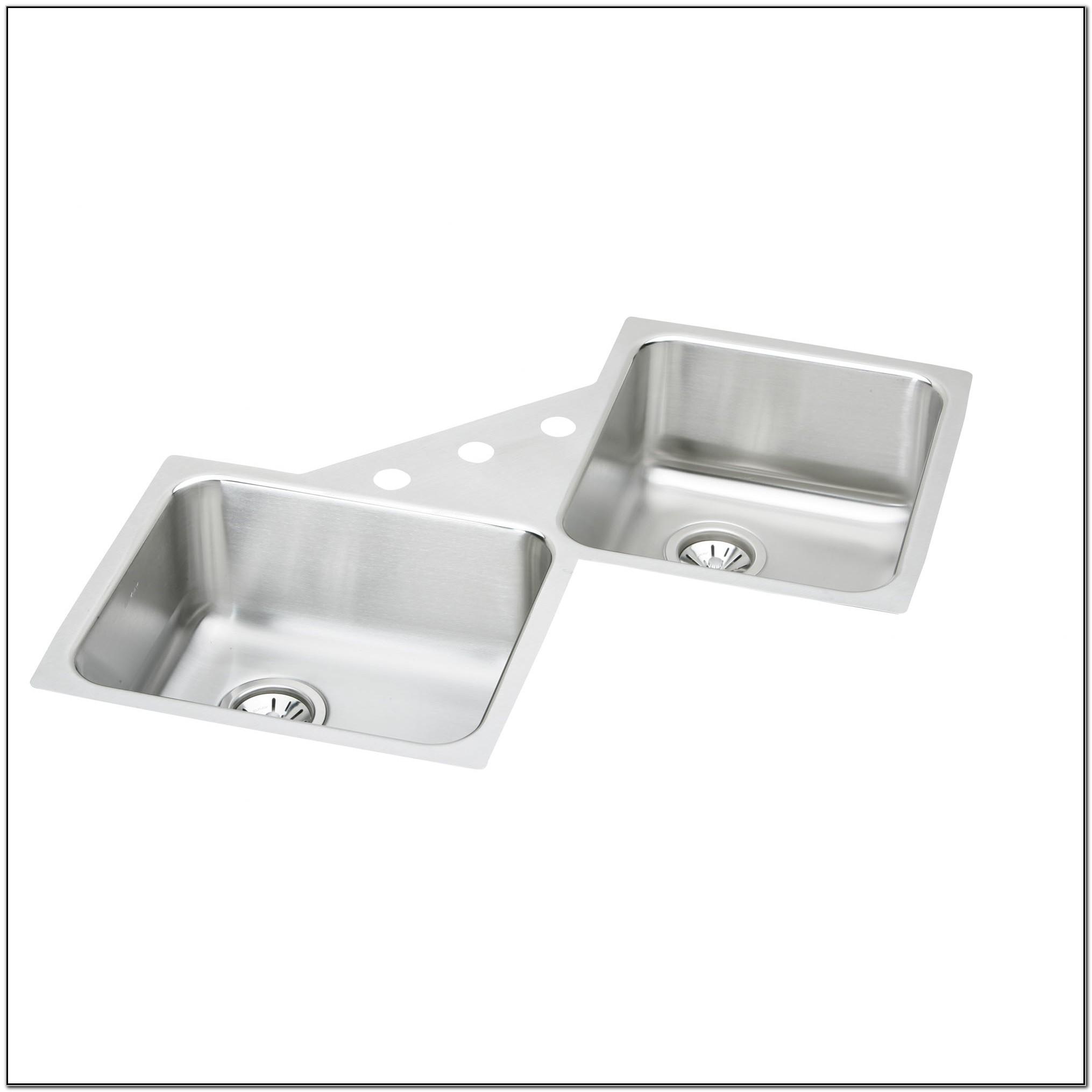 Elkay Undermount Corner Kitchen Sink