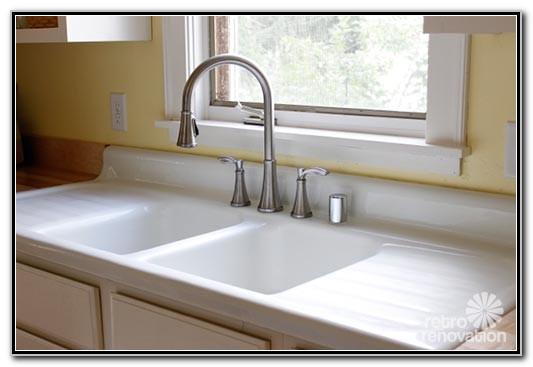 Farm Sink With Drainboard