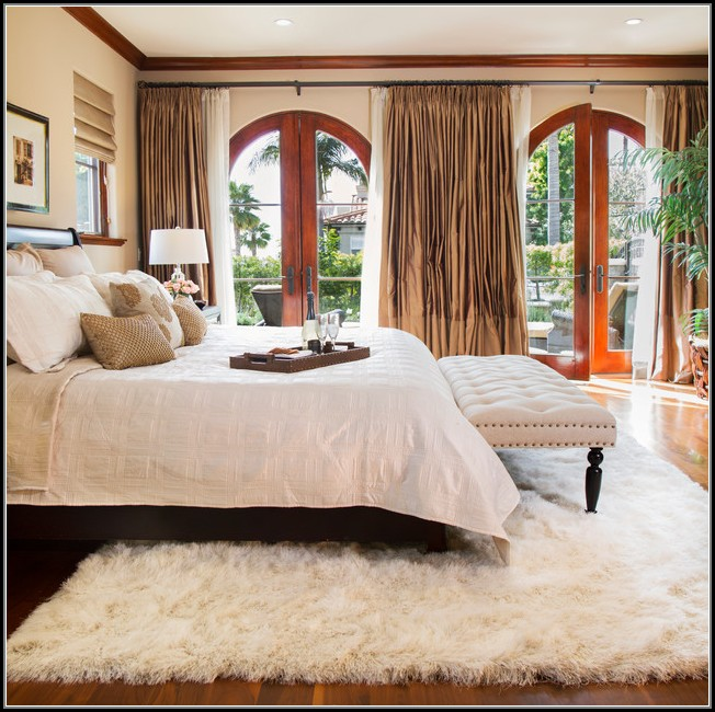 Faux Sheepskin Rug Bedroom