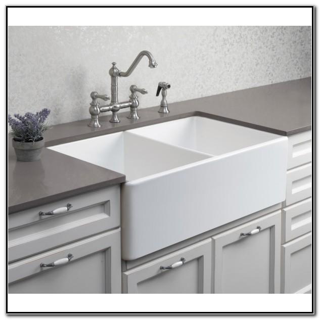 Fireclay Undermount Double Bowl Kitchen Sinks