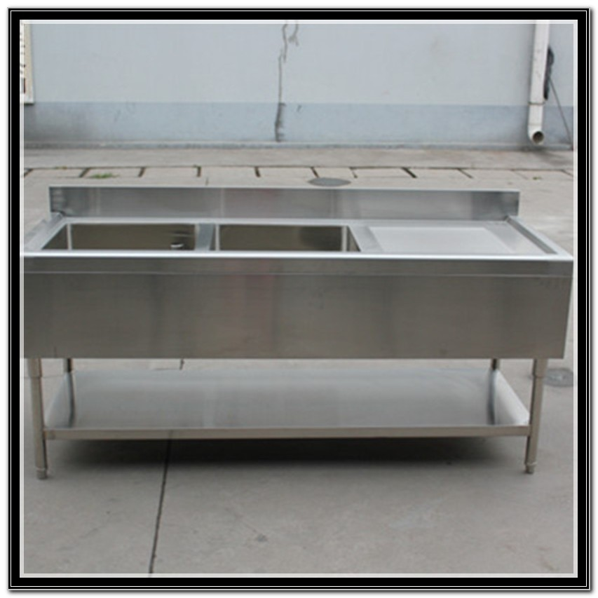 Freestanding Double Stainless Steel Sink