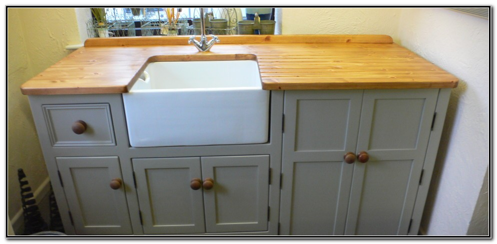Freestanding Sink Unit With Dishwasher