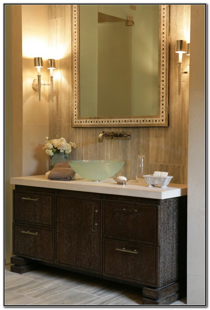 Glass Bowl Sinks With Vanity