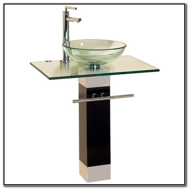 Glass Vessel Sink Vanity Combo