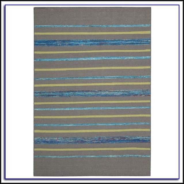 Gray Striped Rug 8x10