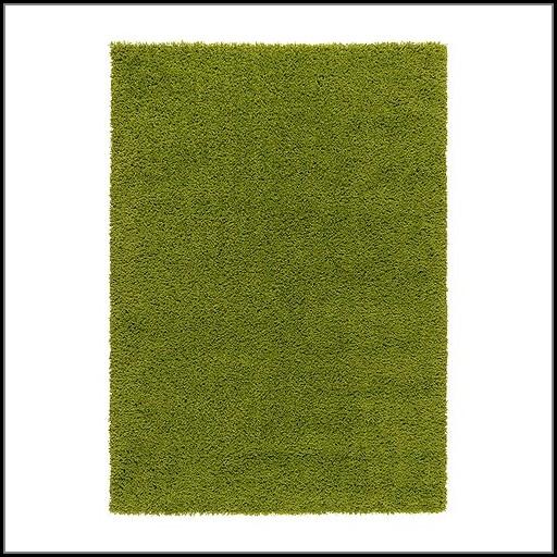 Green High Pile Rug