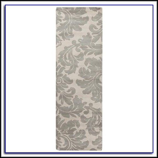 Grey And White Runner Rug