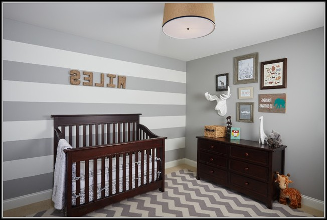 Grey Chevron Rug Nursery