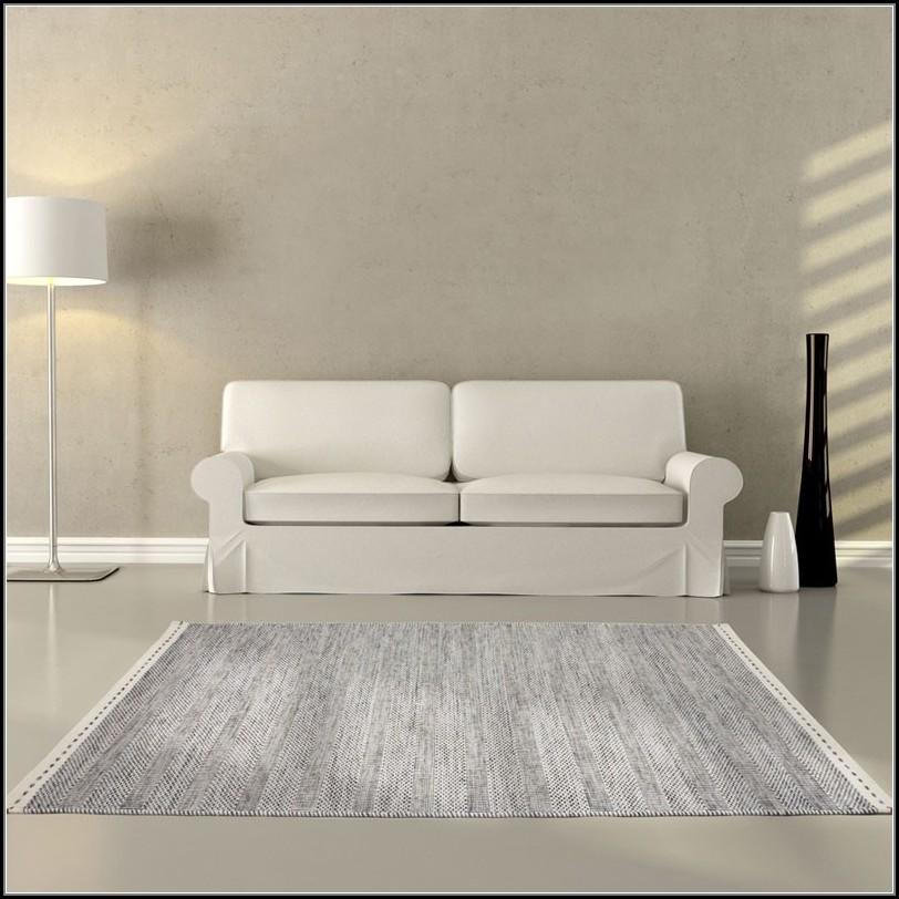 Grey Flat Woven Rug