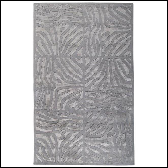 Grey Zebra Print Rug