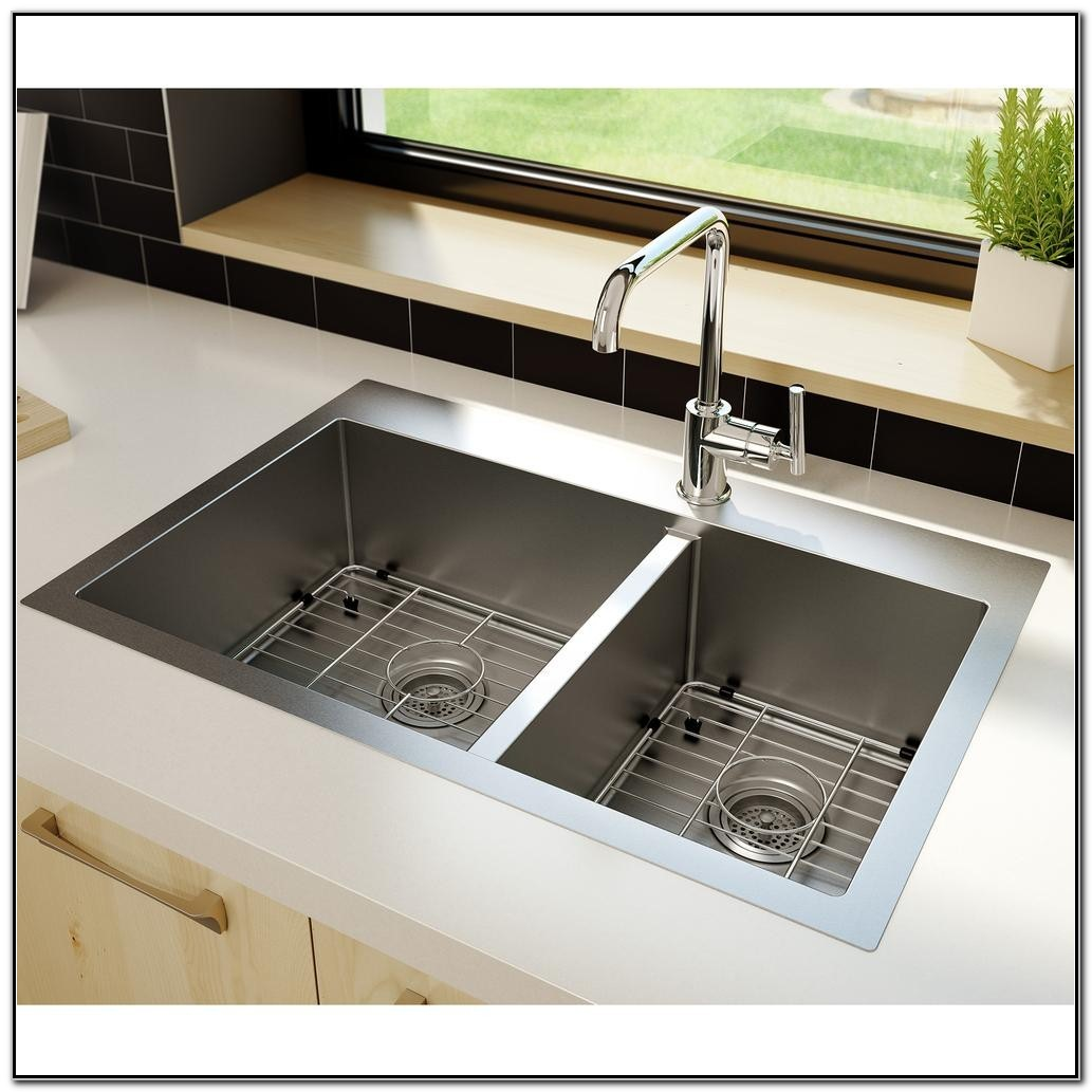 Hammered Brushed Nickel Kitchen Sink